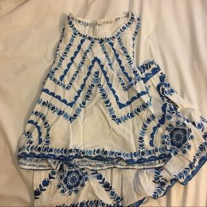 Blue and White Floral Set